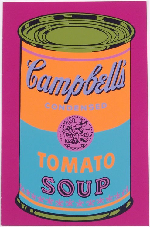 1969 ANDY WARHOL Greeting Card Campbell's Tomato Soup