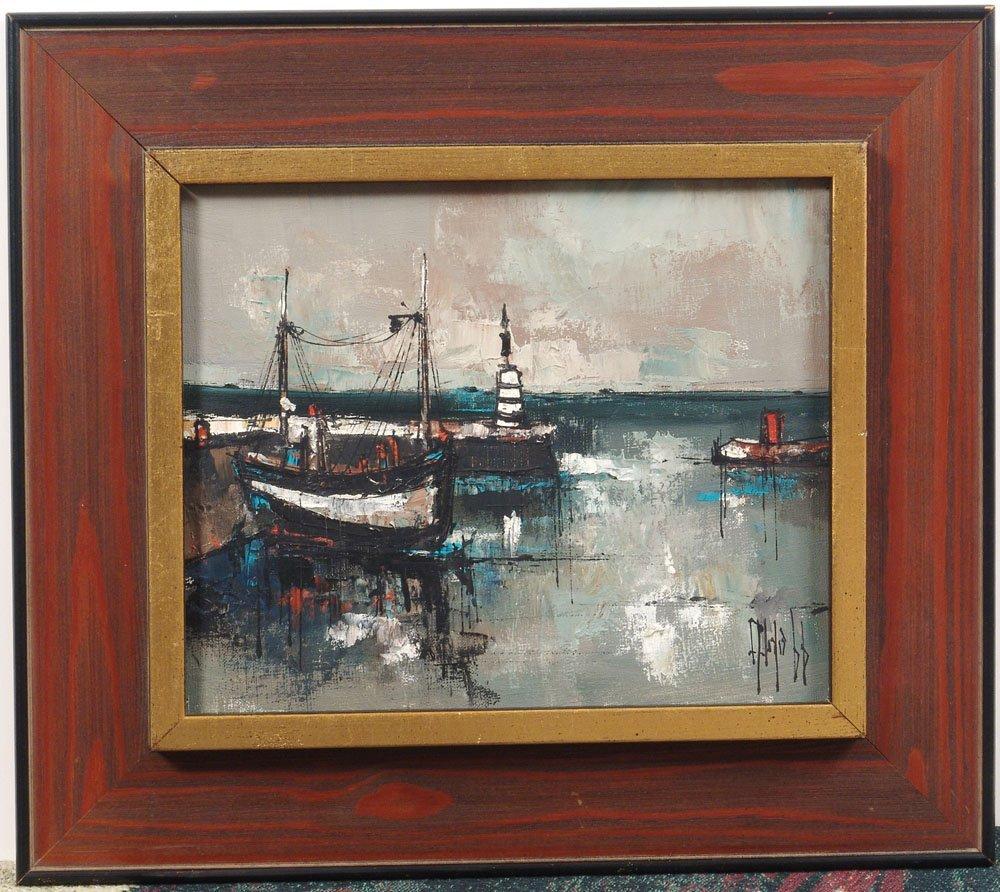 Framed Original 1966 Painting ALDO Mid-Century Modern