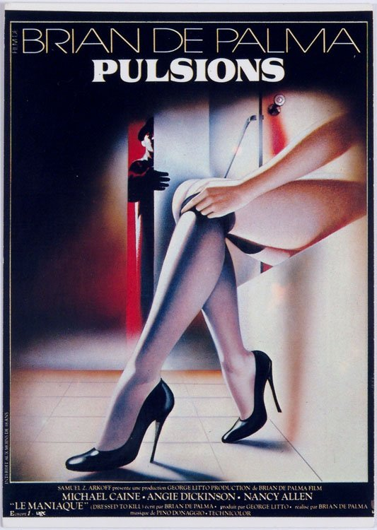 1980s French Postcard BRIAN DE PALMA PULSIONS