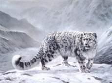 GICLEE Charles Frace FLEETING ENCOUNTER Snow Leopard