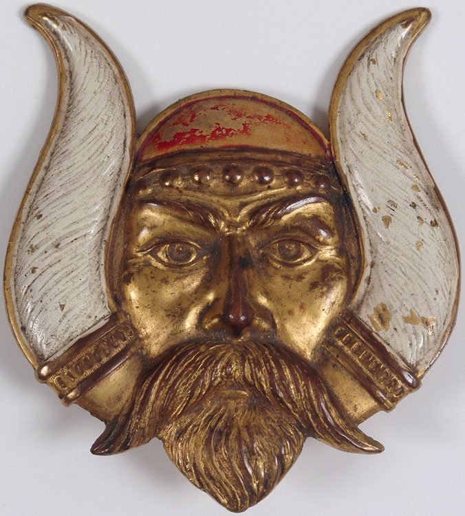 1921 LV Aronson Art Deco Solid Metal Viking Norse God