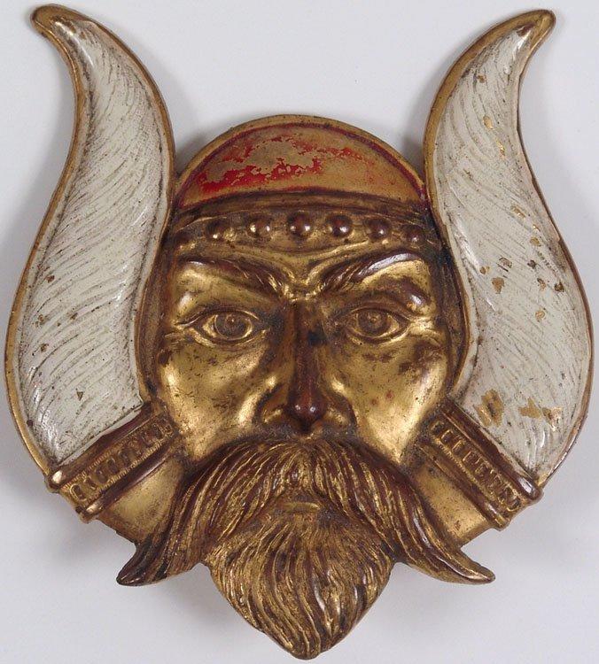 1921 LV Aronson Art Deco Solid Metal Viking Norse God