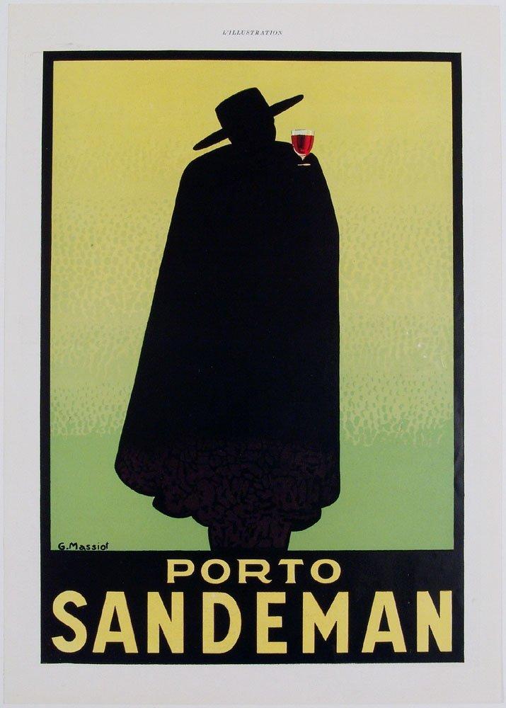 Vintage 1936 L'Illustration Print PORTO SANDEMAN