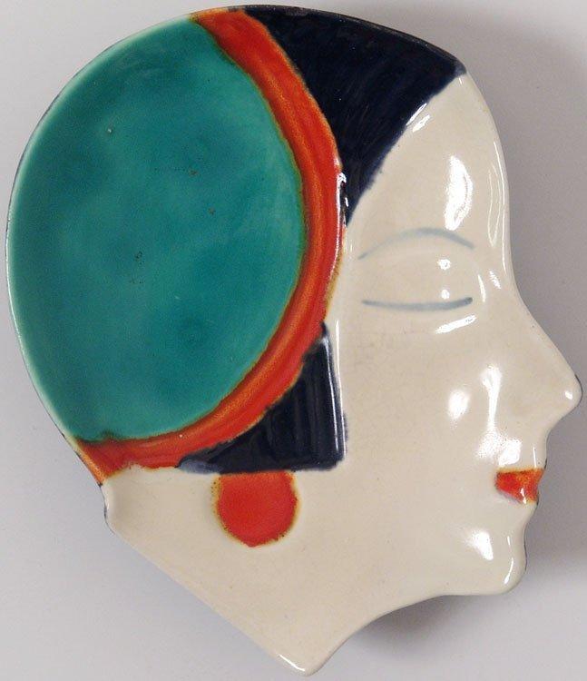 Vintage Decorative Dish - Art Deco Girl's Face