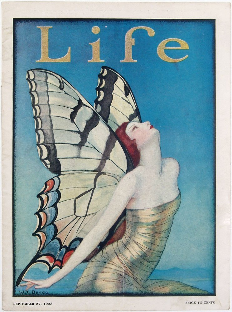 1923 Benda Cover LIFE Redhead Fantasy Fairy Butterfly