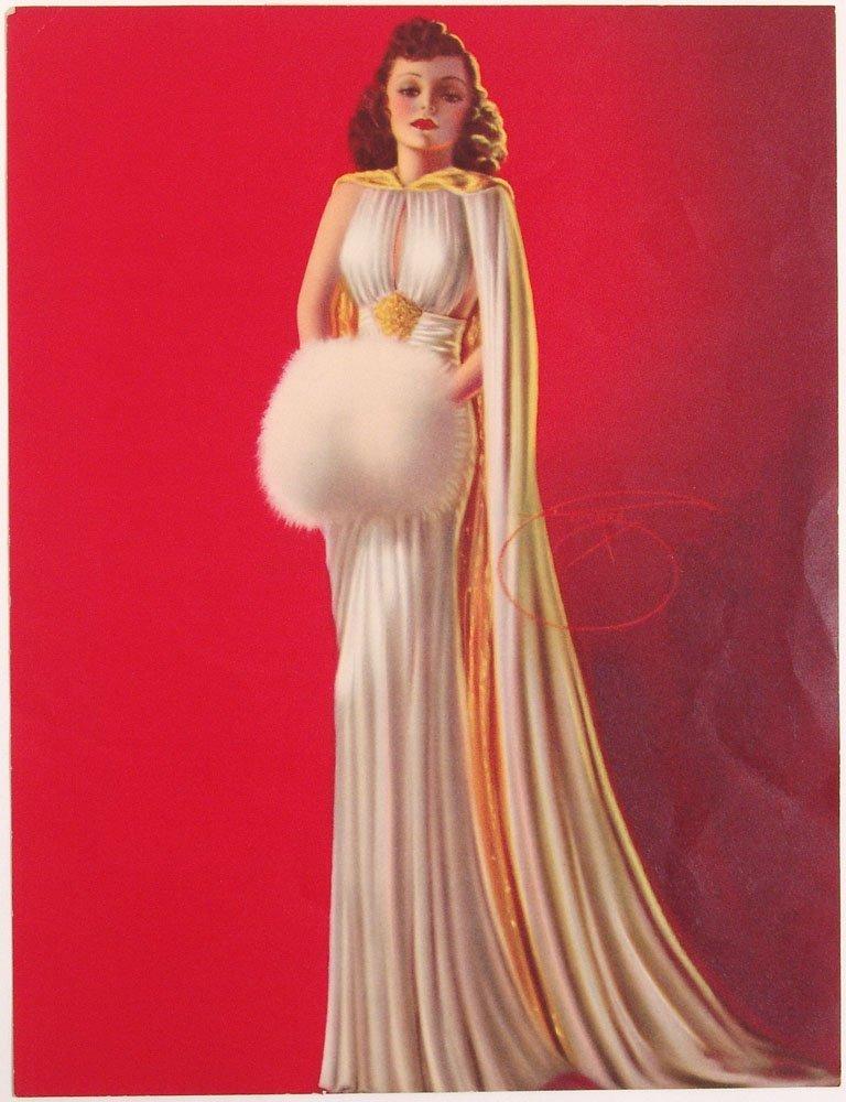 Vintage 1940s Pin-Up BILLY DEVORSS Glamorous Brunette