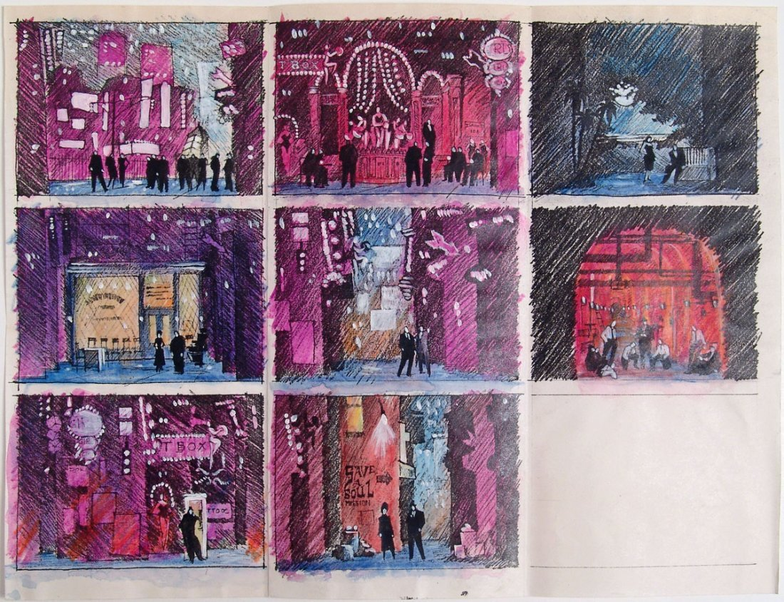 Original Theatre Set Drawing & Painting GUYS AND DOLLS