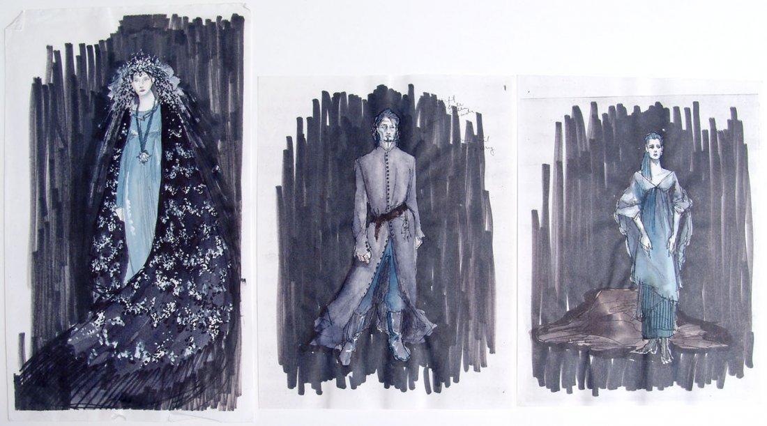 Orig Theatre Costume Drawings DUKE BLUEBEARD'S CASTLE