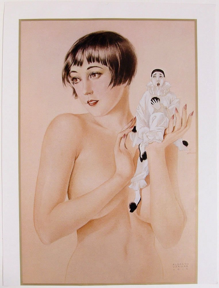 Large Nude Pin-Up VARGAS Ziegfeld Girl BESSIE LOVE