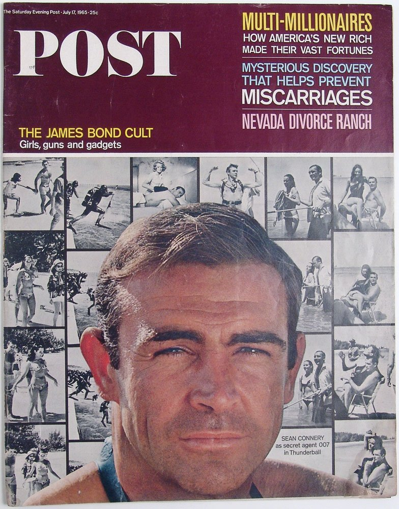 1965 Post Mag SEAN CONNERY James Bond in Thunderball