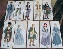 Vintage Original Theatre Costume Paintings BRIGADOON
