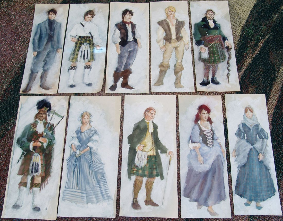 Vintage Original Theatre Costume Paintings BRIGADOON
