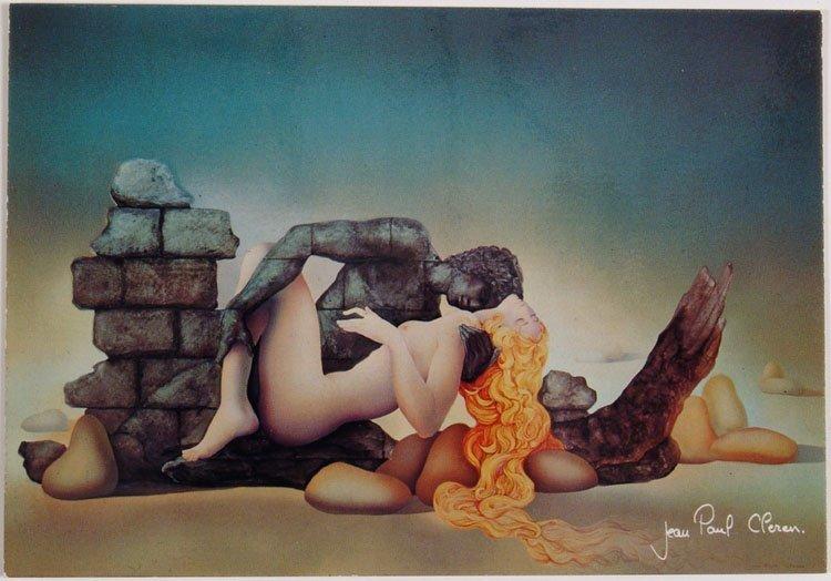 Vintage JEAN PAUL CLEREN Postcard Erotic Fantasy Art