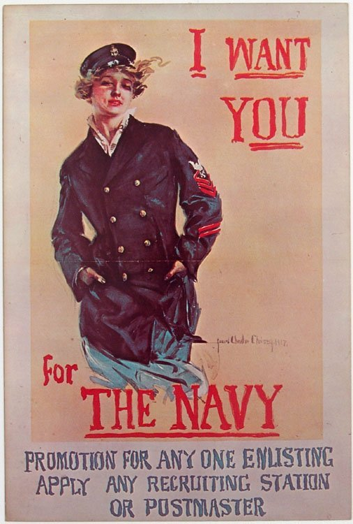Large Vtg 1967 Postcard I WANT YOU FOR THE NAVY Christy
