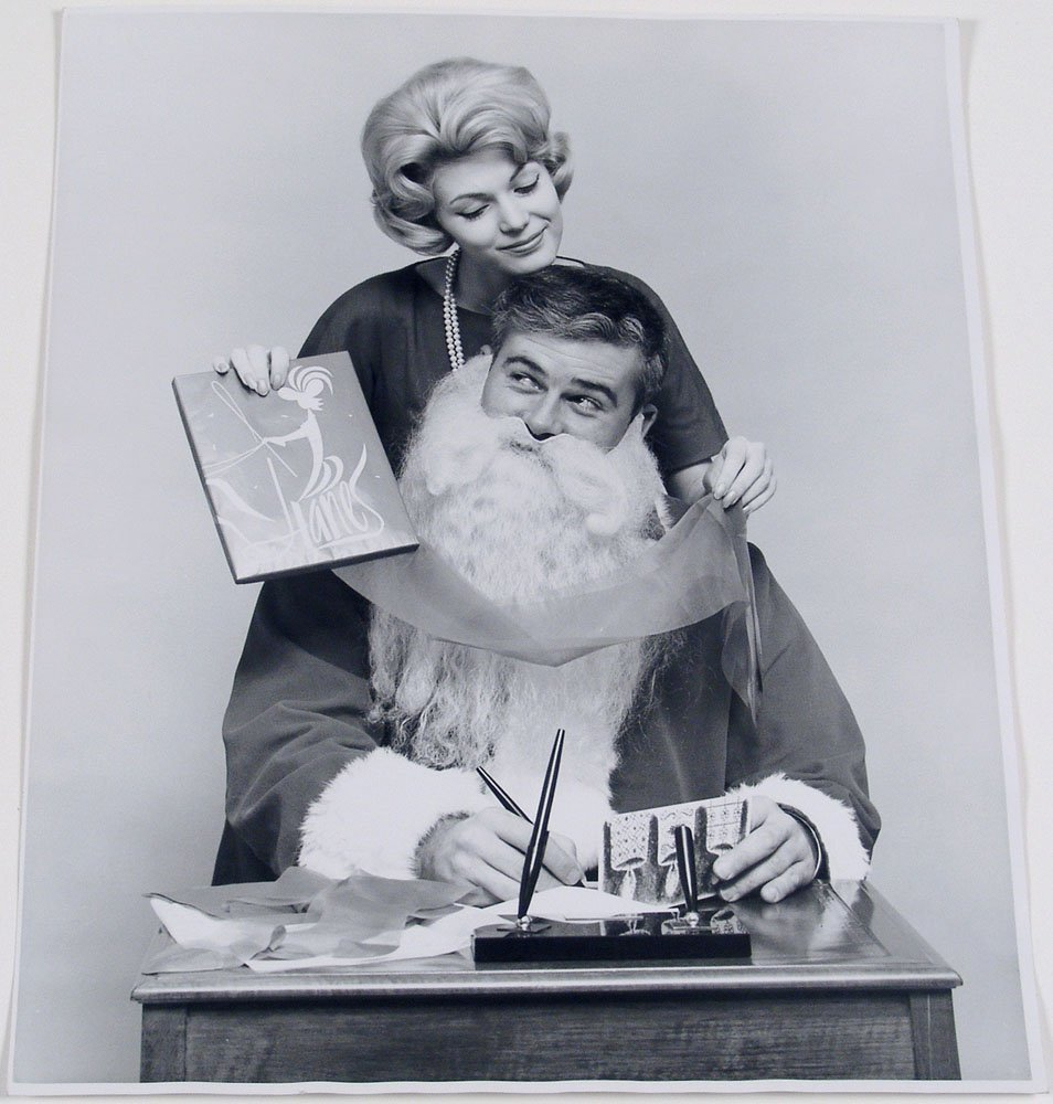 1960s Christmas Advertising Photo DAD AS SANTA CLAUS