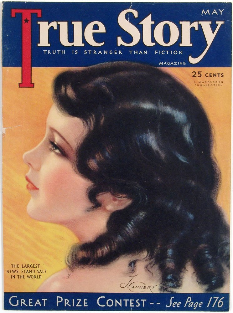 1930s TRUE STORY Magazine Cover by Jules Cannert
