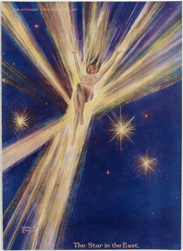 1929 Bystander Christmas Cover THE STAR IN THE EAST