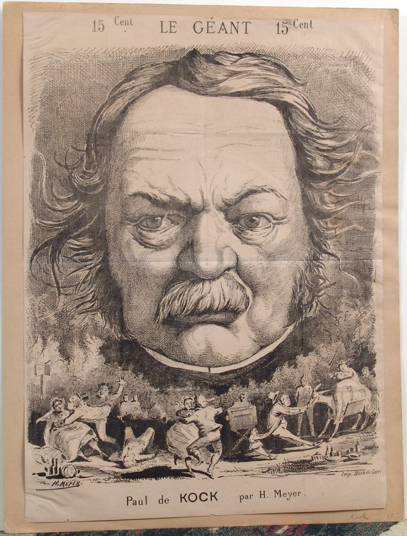 XL Antique 1868 French Caricature PAUL DE KOCK