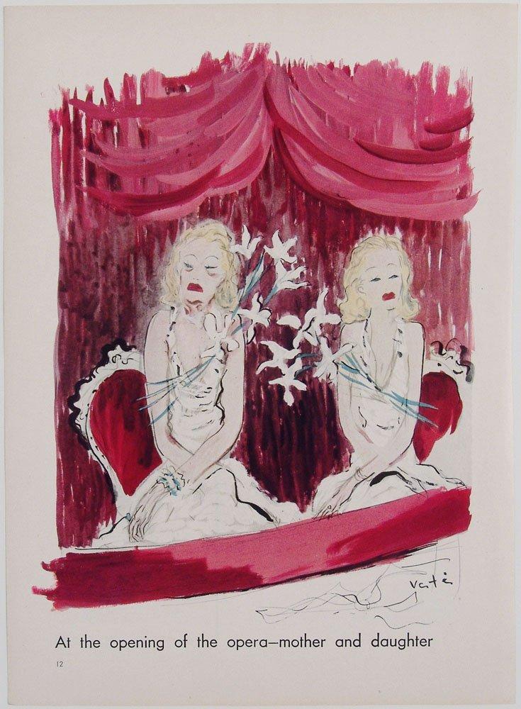 Vtg 1935 Vanity Fair Print - Artwork by Marcel Vertes