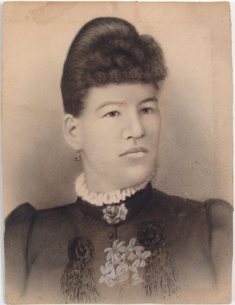 Vintage Original Drawing - Female Portrait