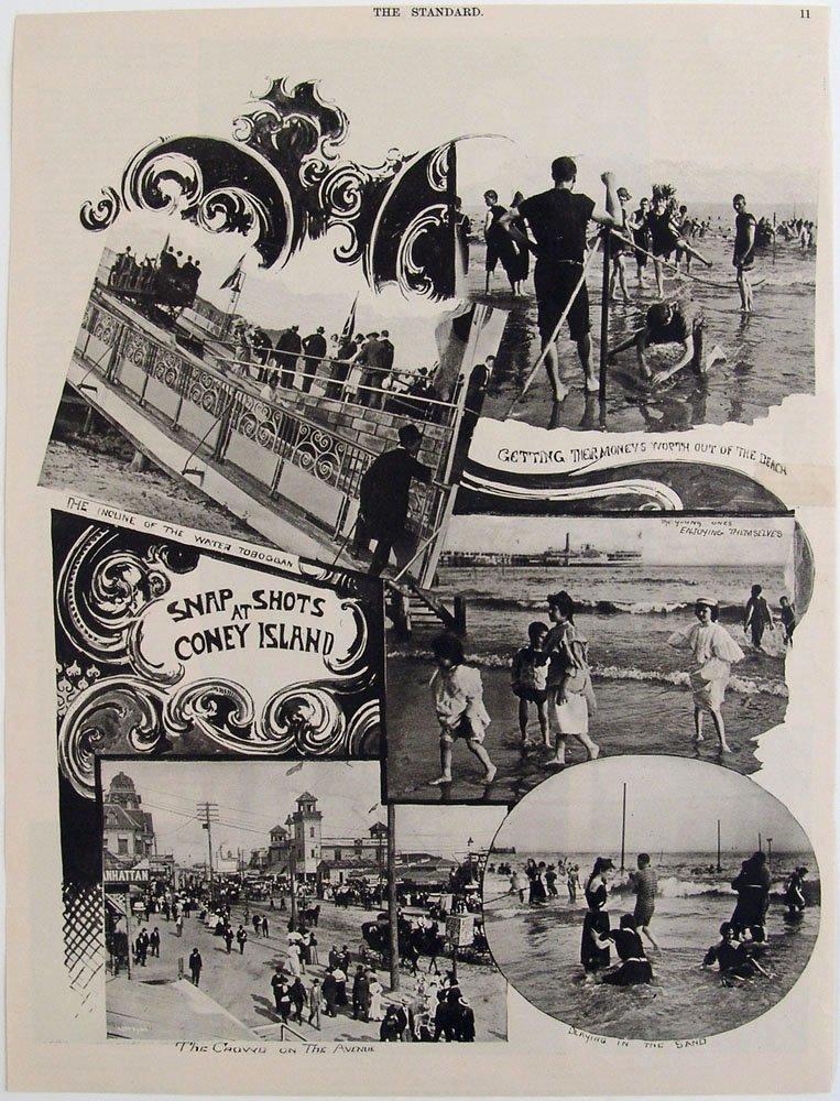 1896 STANDARD Magazine Print CONEY ISLAND & THE GEISHA