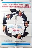 Orig 1959 1 Sheet Poster WARLOCK Widmark, Fonda, Quinn