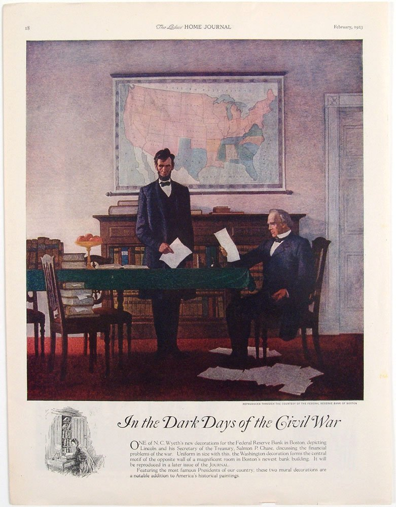 1923 Print DARK DAYS OF THE CIVIL WAR Abraham Lincoln