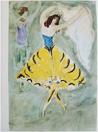 Vintage Chagall Print ALEKO: SKETCH FOR THE DANCE