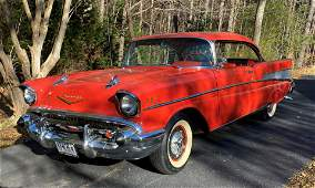 """1957 Chevrolet Bel Air """"Sport Coupe,"""" fully restored."""