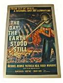 Large linen backed movie poster The Day the Earth Stood