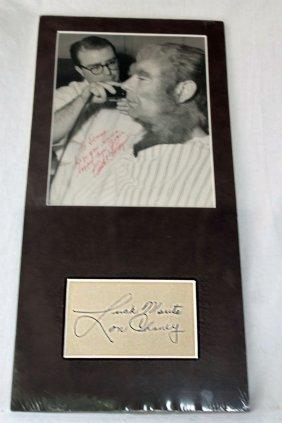 Lon Cheney Autographed Picture