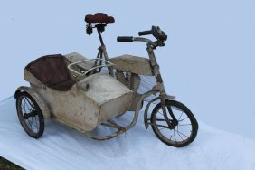 Indian Bicycle With Side Car