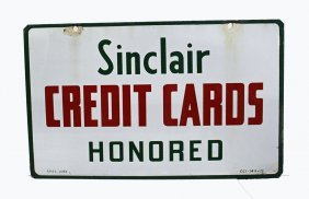 Sinclair Credit Card Sign