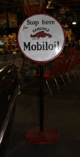 Mobiloil Sidewalk Sign