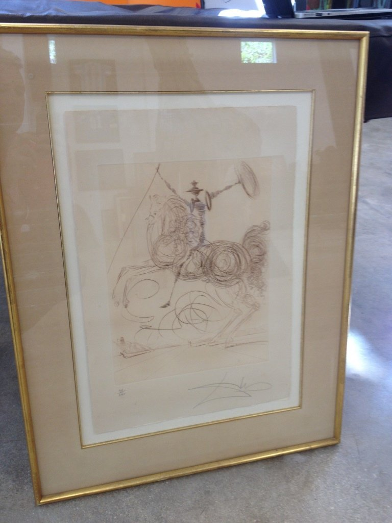 "Salvador Dali ""The Horseman"" #101 of 200 Framed 24 1/2"""