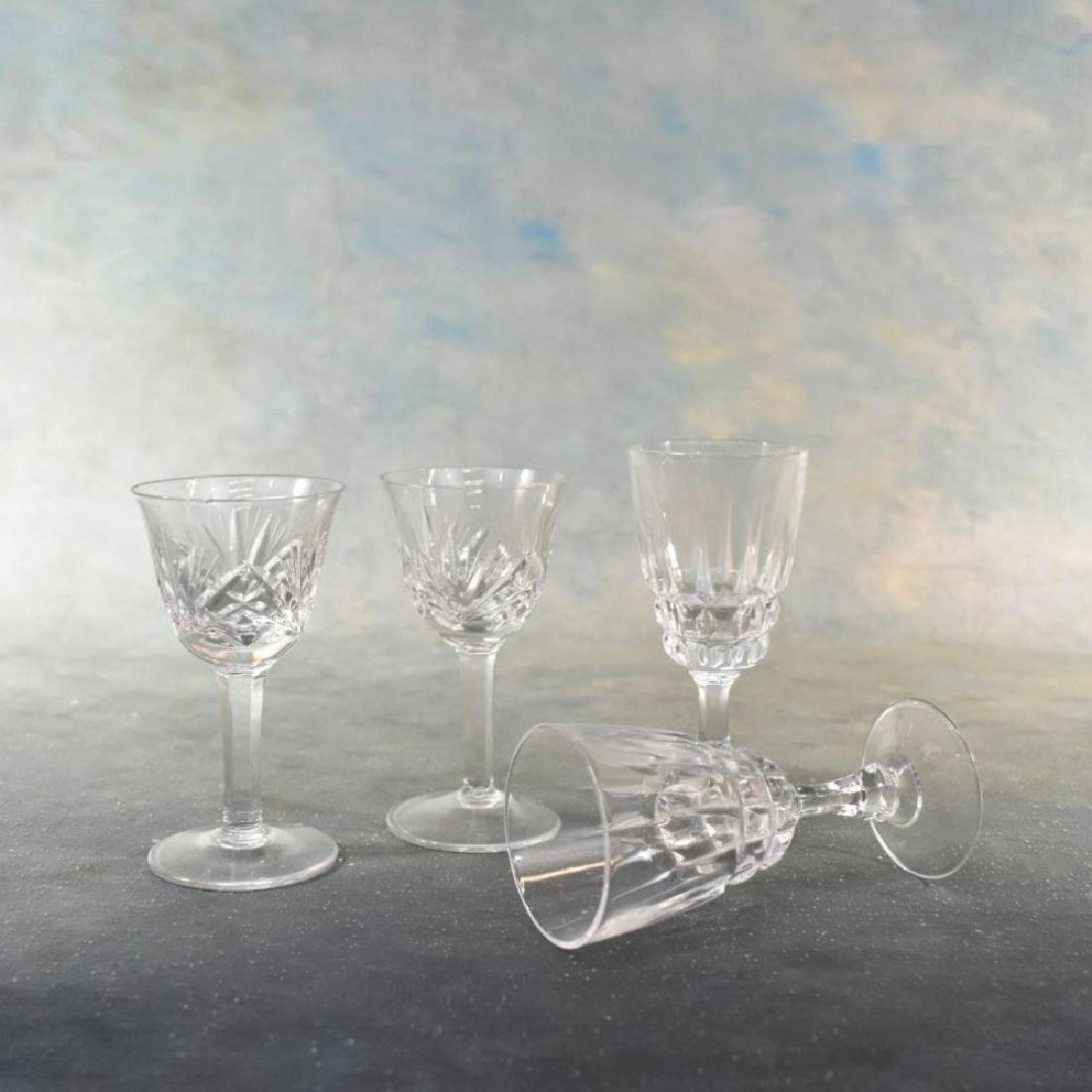 16pcs Vintage Cut Crystal Stemware