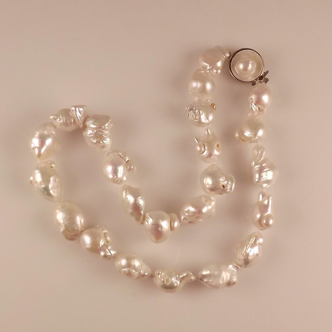 13-15mm White Keshi Baroque Pearl Necklace