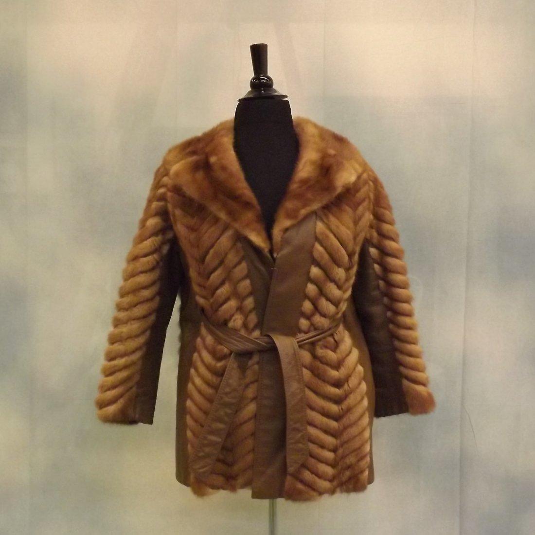 Vintage Leather and Mink Jacket