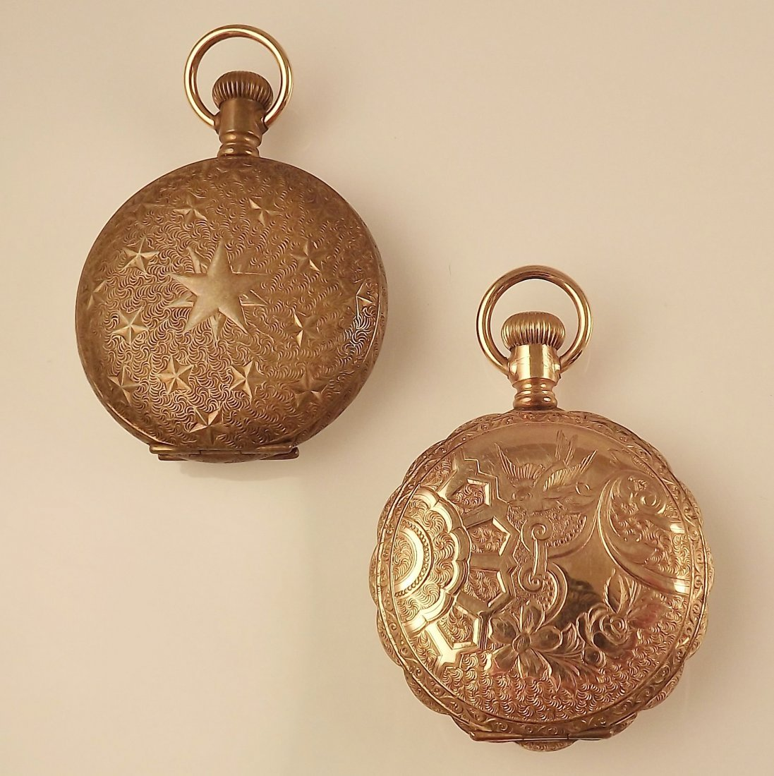 14K Elgin Pocket Watch Case and Tornado Pocket Watch
