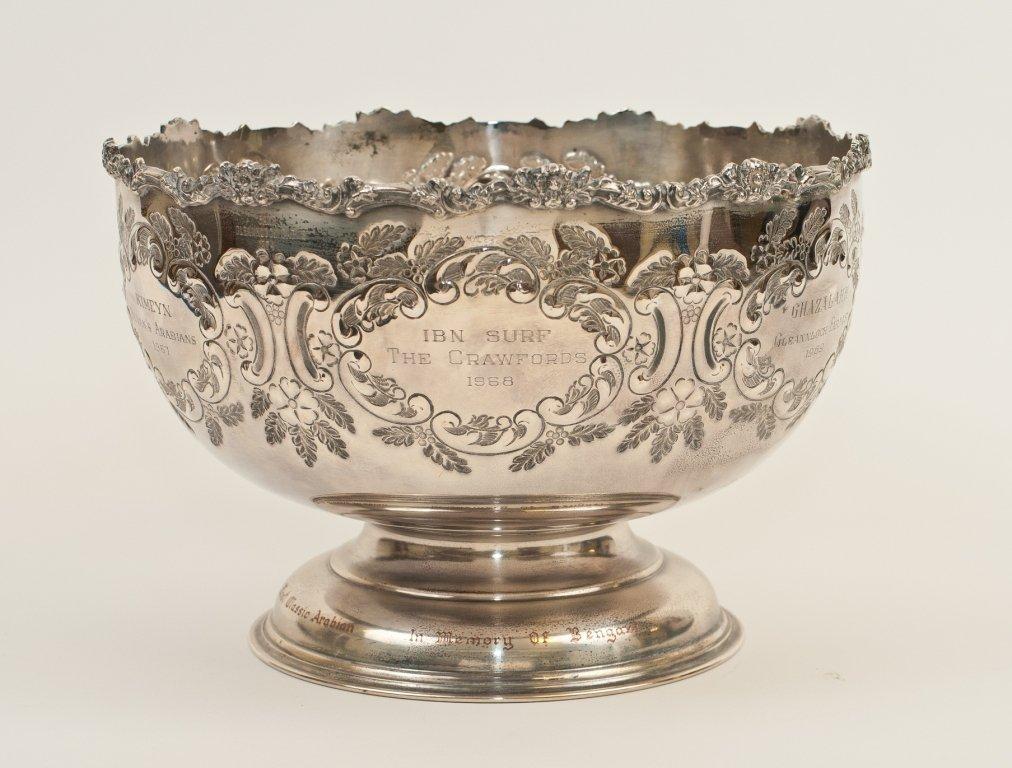 Silver Plate Challenge Trophy Gleannloch Arabian horses