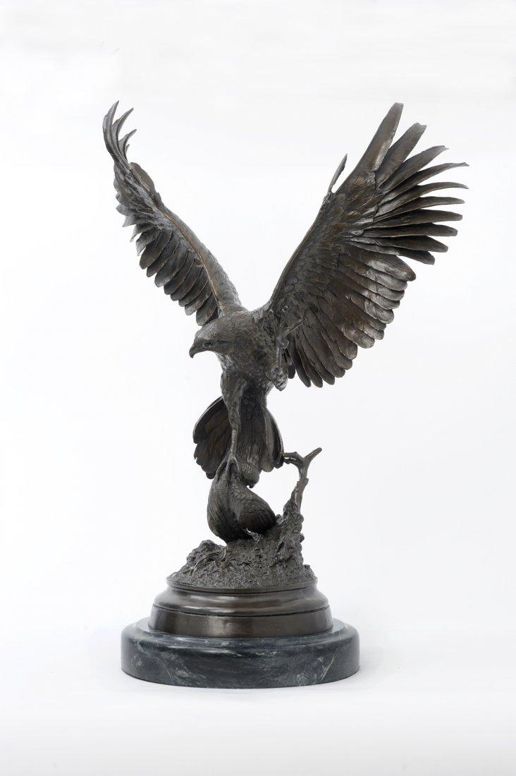 "Bronze ""Falcon"" by J. Moigniez (1835-1894) - 2"