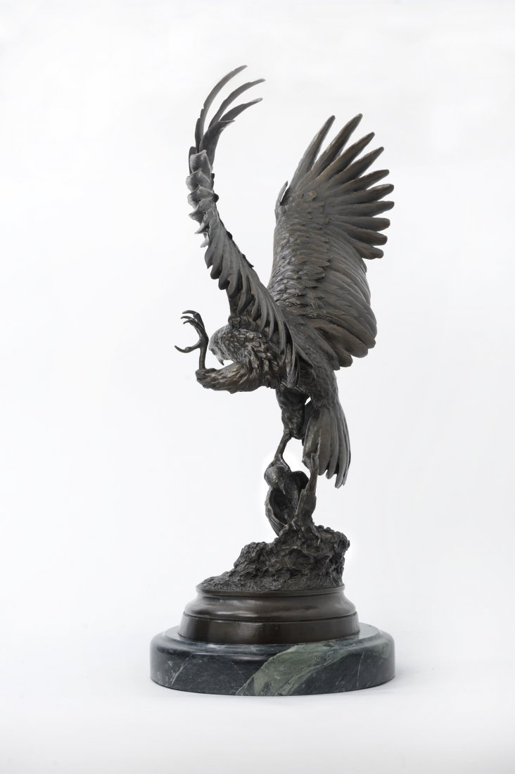 "Bronze ""Falcon"" by J. Moigniez (1835-1894) - 3"