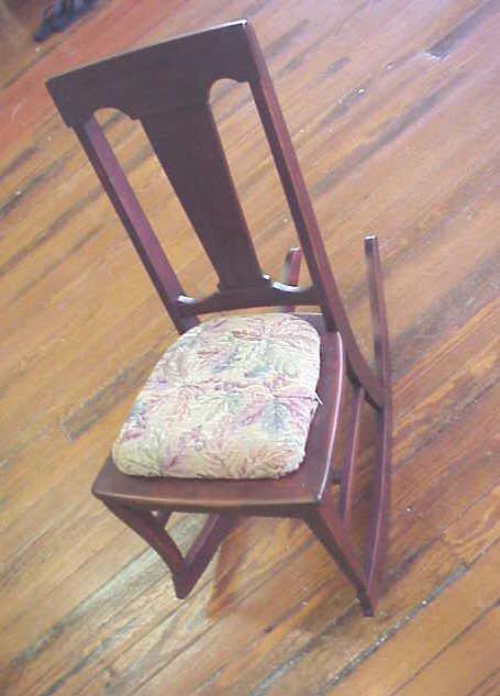 3: Mahogany youth rocking chair.