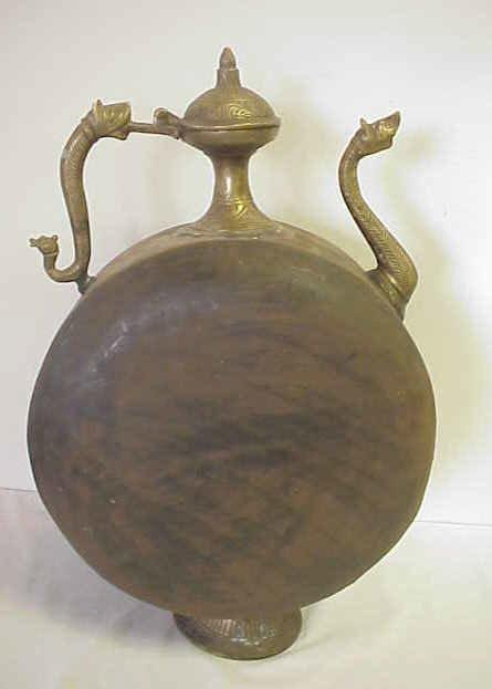 22: Large oriental kettle.
