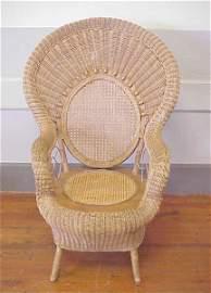 273: Wicker armchair.