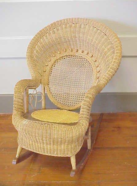 274: Wicker rocking chair.