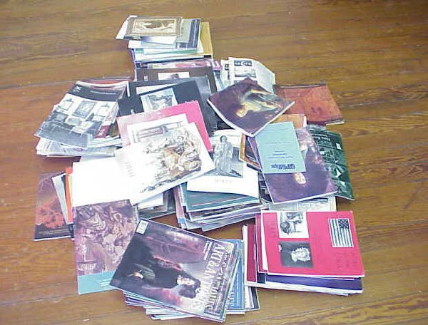 1: Large variety of antique auction catalogues.