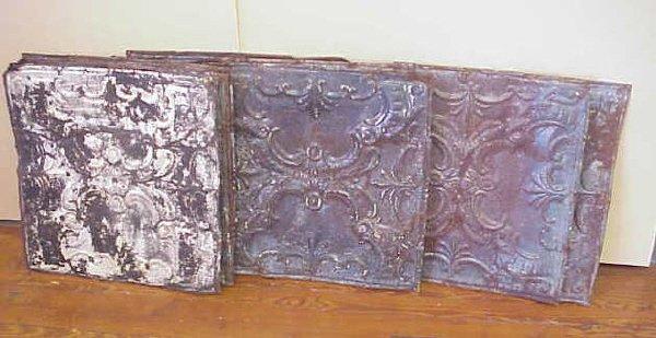 19: 10 Metal ceiling tiles.