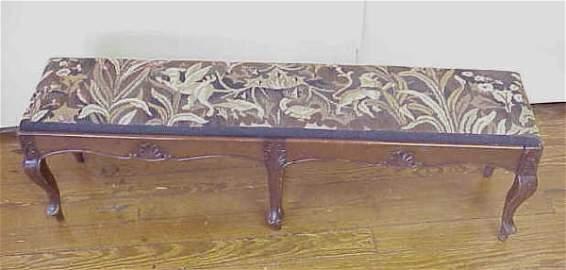 208: Needlepoint upholstered bench.