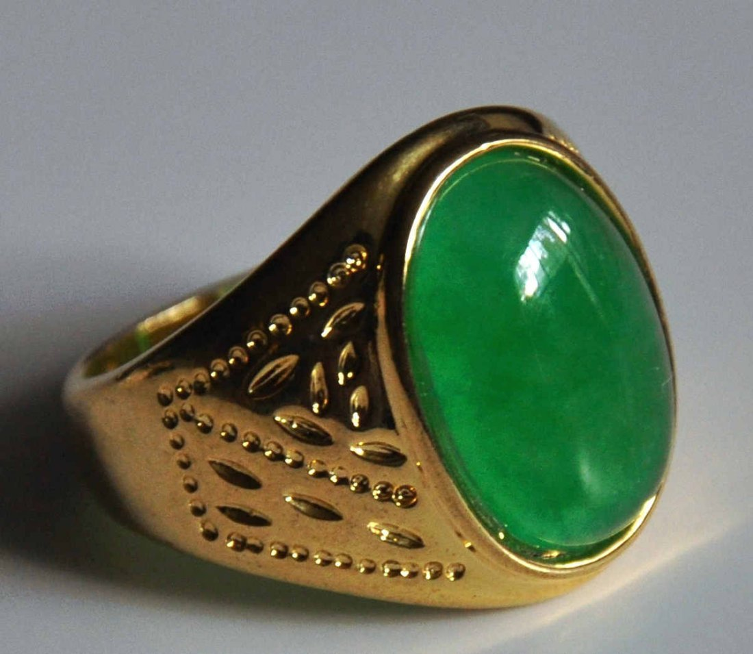 A translucent men jadeite ring - 2